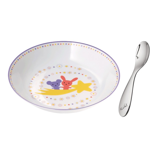 Christofle Cereal Bowl & Baby Spoon Set $215-Best Newborn Girl Gifts 2015