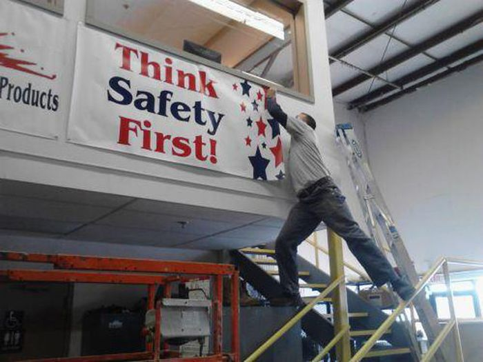 The Irony is Strong with this One-15 Workers Who Are Doing It Totally Wrong