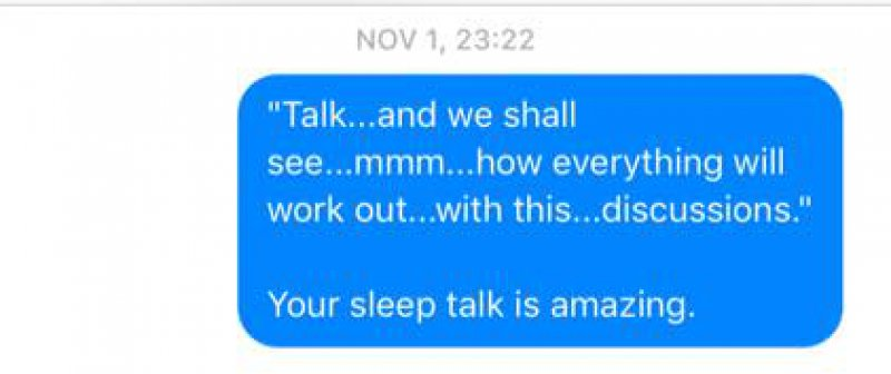 She Says Her Husband Has a Brilliant Mind -Wife Texts All The Things Her Husband Says In His Sleep(12 Photos)
