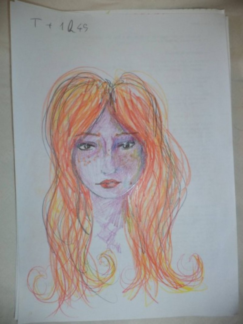 After 1 Hour 45 Minutes-A Woman Draws Her Self Portraits During Her First Acid Trip