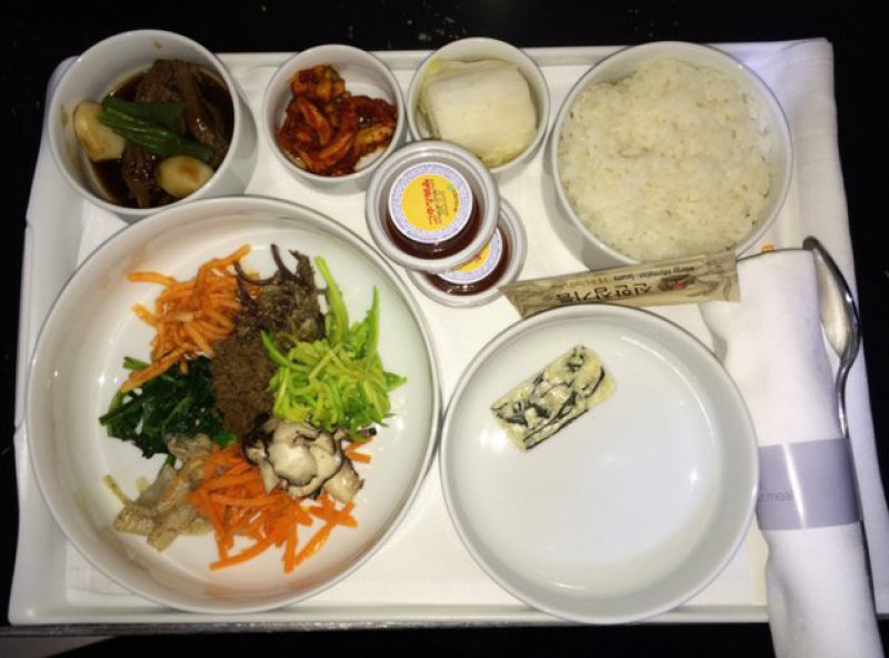 Korean Airlines-15 Airlines And The Food Served In The Economy Vs. Business Class