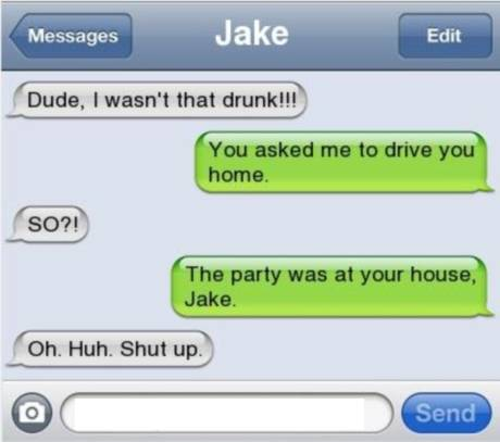 He Was So Drunk He Even Forgot Where He Was-15 Funniest 'The Morning After Hangover' Texts