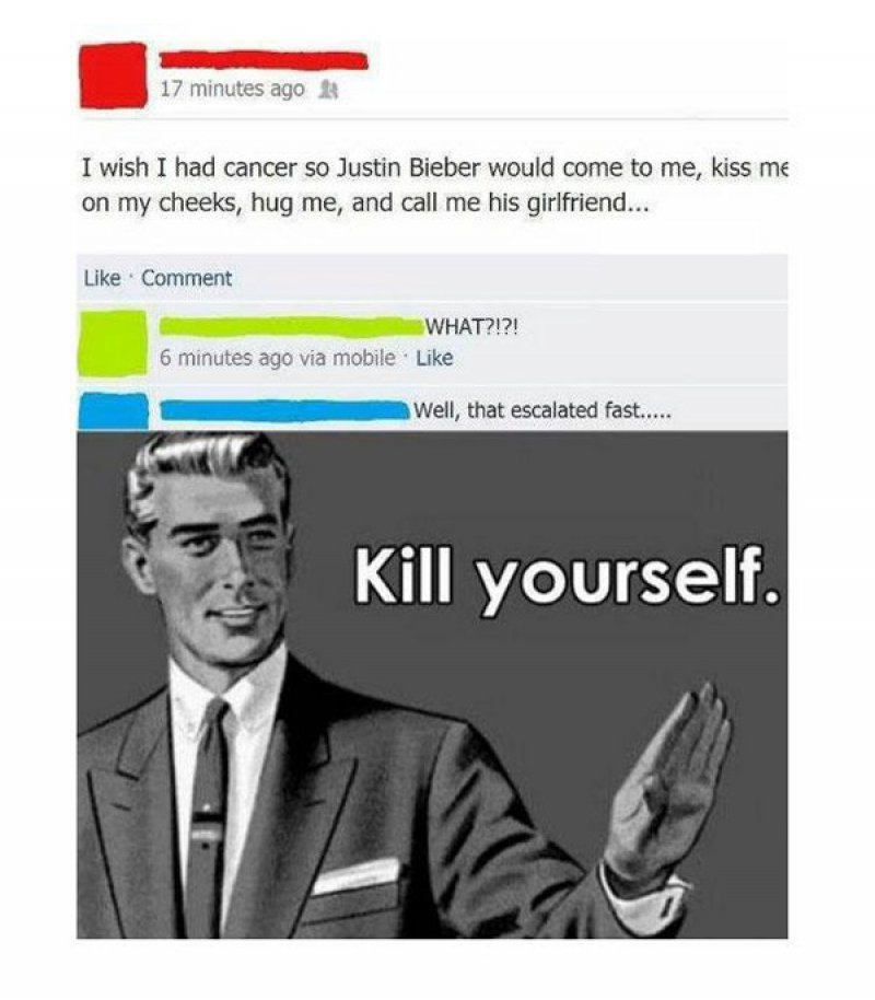 This Justin Bieber Fan-15 People Who Shouldn't Be On Facebook