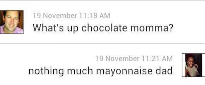 Chocolate Mama Vs. Mayonnaise Dad-15 Images Of Women Trolling Creepy Guys