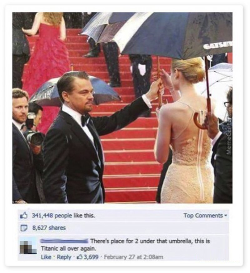 This Is Titanic All Over Again! -15 Hysterical Facebook Photo Comments Ever