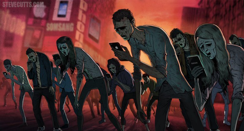 Smartphone Addiction-15 Images That Show The Bitter Reality Of Modern World