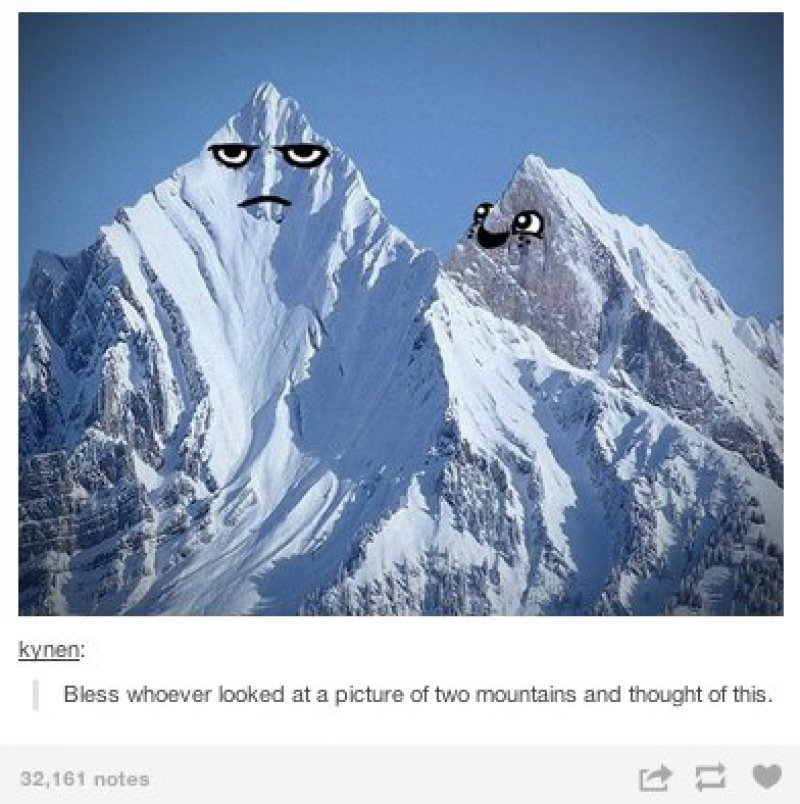 These Two Mountains!-15 Images That Will Make You Laugh Hysterically