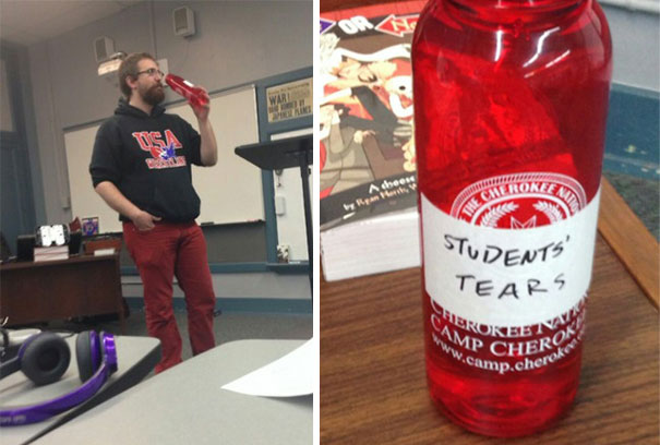 What Was He Drinking?-15 Awesome Teachers Everyone Would Like To Have