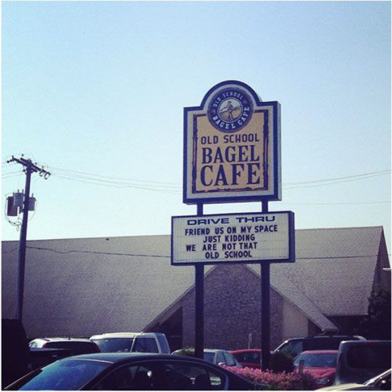 This Epic Bagel Place Sign -15 Images That Make You Say 'Well Played Sir'.