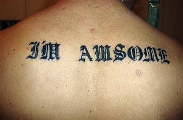 Am-awesome-15 Worst Tattoo Spelling Mistakes Ever