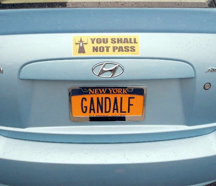 You Shall Not Pass-15 License Number Plates With Secret Meaning