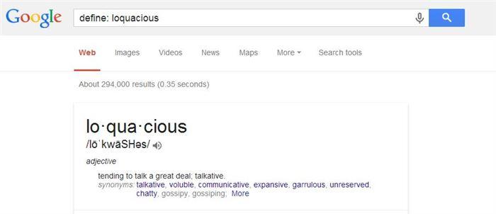 Find Definition of Words-15 Google Hacks That Make Your Life Simpler