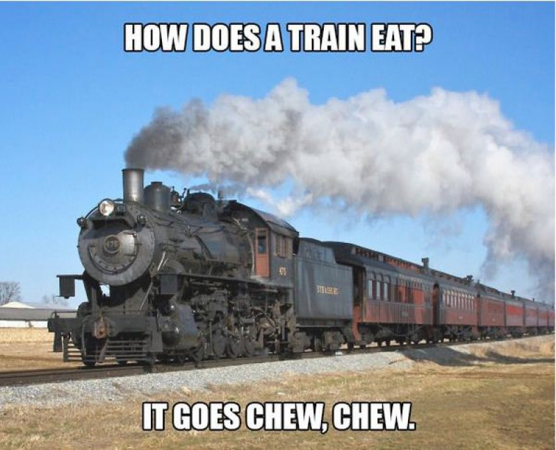 How Does a Train Eat?-15 Terrible Jokes That Are Actually Funny