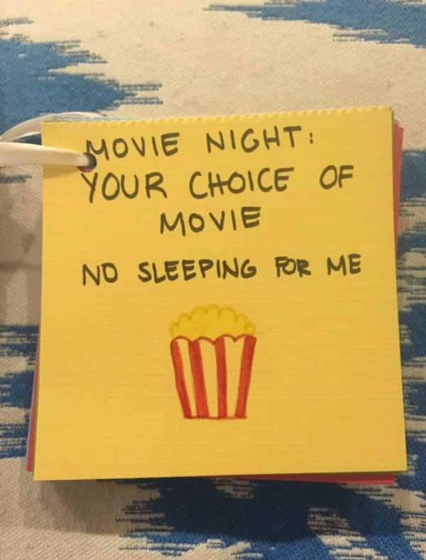 Movie Coupon-15 Awesome Coupons Made By This Girl For Her BF On Their Anniversary