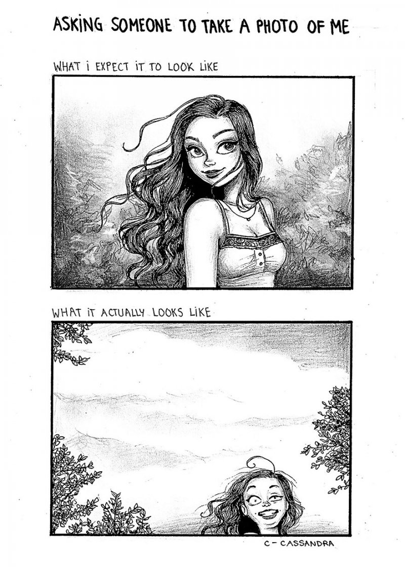 Asking Friends to Take a Photograph-15 Comics That Perfectly Illustrate Everyday Struggles Of A Woman