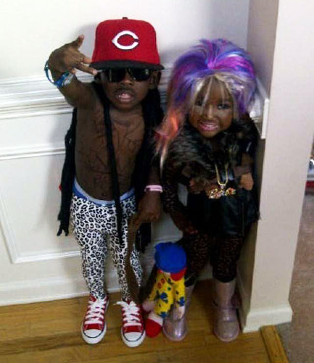 Lil Wayne and Nicki Minaj Costumes-15 Disgusting Kids Halloween Costumes Ever