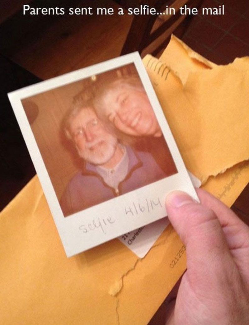 Selfie in the Mail-15 Times Parents Showed Their Inner Child