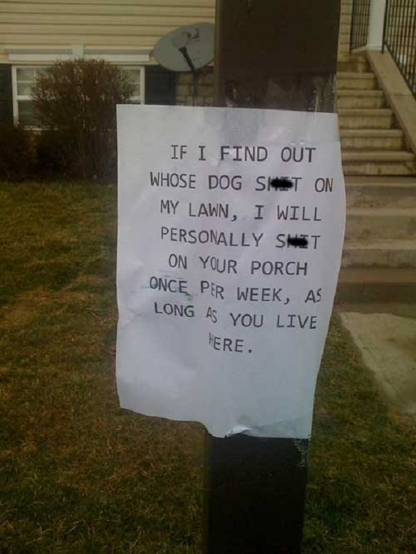 This Warning-15 Aggressive Notes Left For Stupid Neighbors