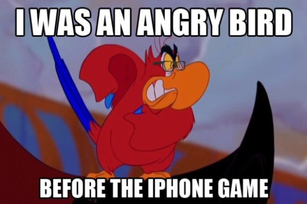 The original Angry Bird-15 Hilarious Disney Memes That Will Make You Lol
