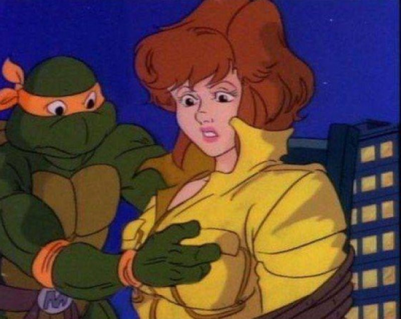 This Highly Awkward Moment from TMNT-15 Hidden Inappropriate Jokes In Children Cartoons