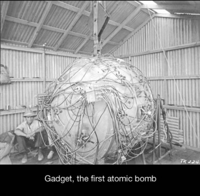 The First Atomic Bomb - The Gadget-15 Historical Pictures That Are Really Shocking