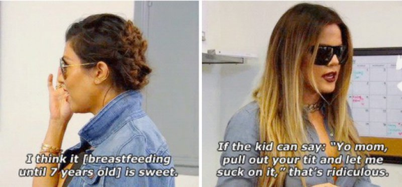And This Breastfeeding Advice To Kourtney Kardashian-15 Times Khloe Kardashian Perfectly Shut Down Her Family