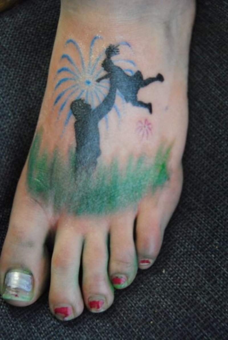 Playground Tattoo-12 Best Father And Daughter Tattoos Ever