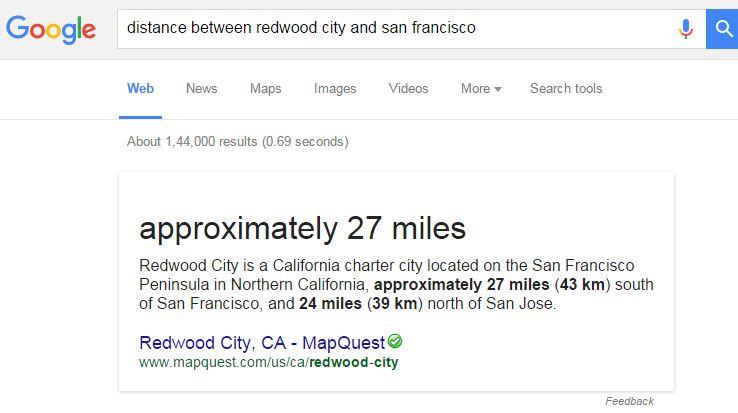 Find Distance Between Cities-15 Google Hacks That Make Your Life Simpler