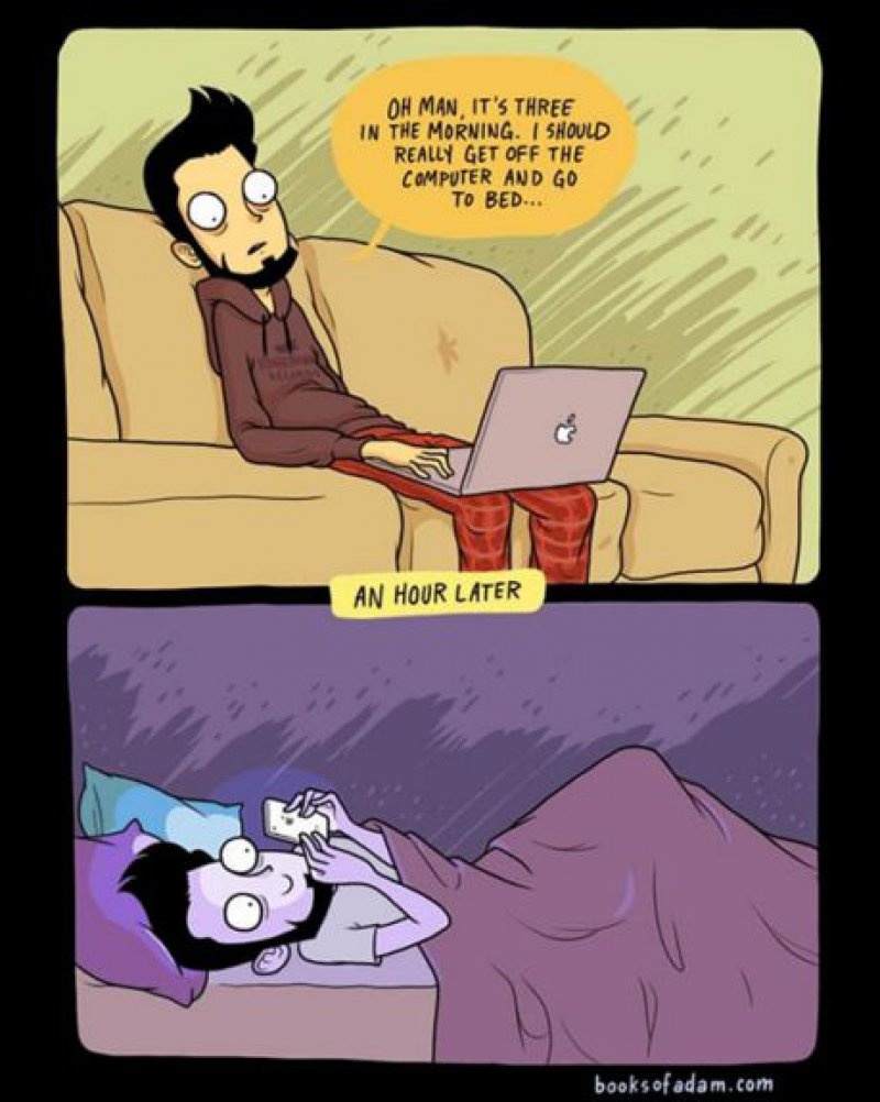 Our Sleep Time Takes a Beating-15 Comics That Show How Smartphones Have Ruined Our Lives
