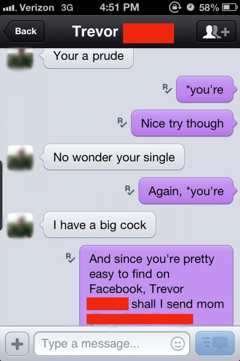 That Was One Pretty Strong Warning-15 Hilarious Comebacks To Unwanted Dick Pics