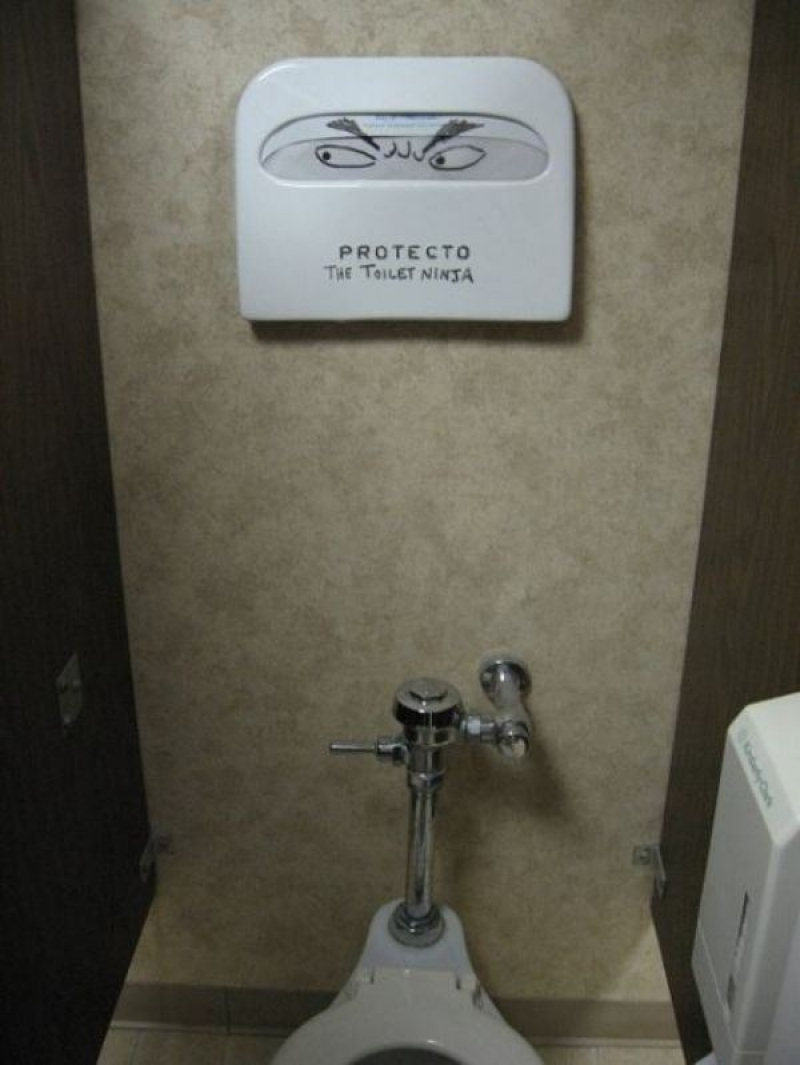 The Toilet Ninja-15 Hilarious Toilet Graffiti Images Ever