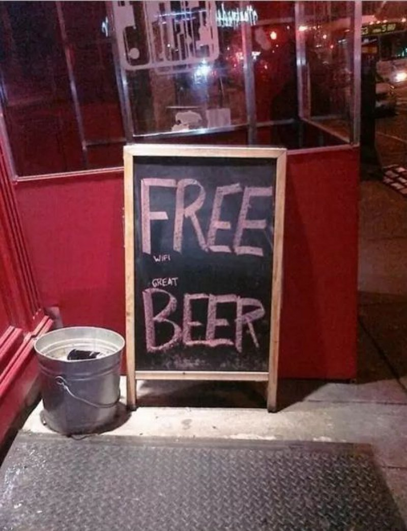 Free Beer! Really?-15 Images That Make You Say 'Well Played Sir'.