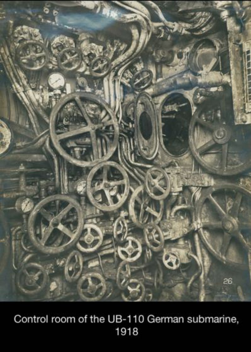 A Control Room of a Japanese Submarine-15 Historical Pictures That Are Really Shocking