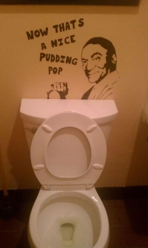 What Pudding Pop is He Referring to?-15 Hilarious Toilet Graffiti Images Ever