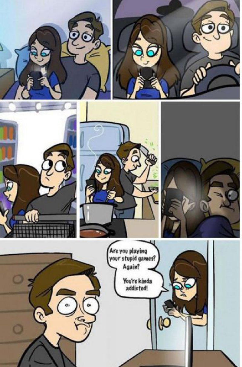 Do You have a Similar Girlfriend or Boyfriend? -15 Comics That Show How Smartphones Have Ruined Our Lives