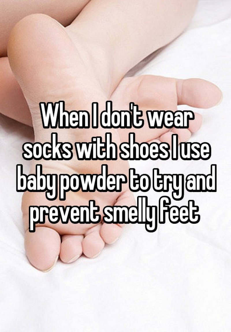 Use Baby Powder to Prevent Smelly Feet-15 Ridiculous Life Hacks For All The Lazy People Out There
