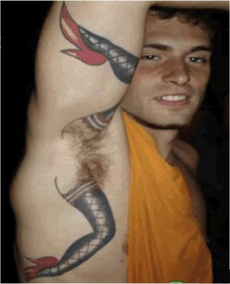 Armpit Bush-15 Most Inappropriate Tattoos Ever