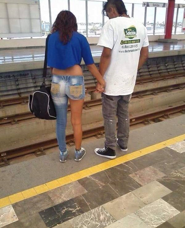 Excuse Me Madam, You Forgot the Other Half of Your Jeans at Home-15 Most Awkward Public Transport Pictures