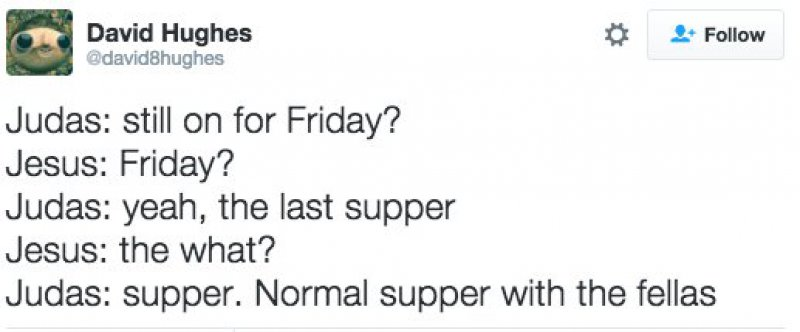 This Hilarious Conversation between Jesus and Judas-15 Tweets Only Catholics Will Understand