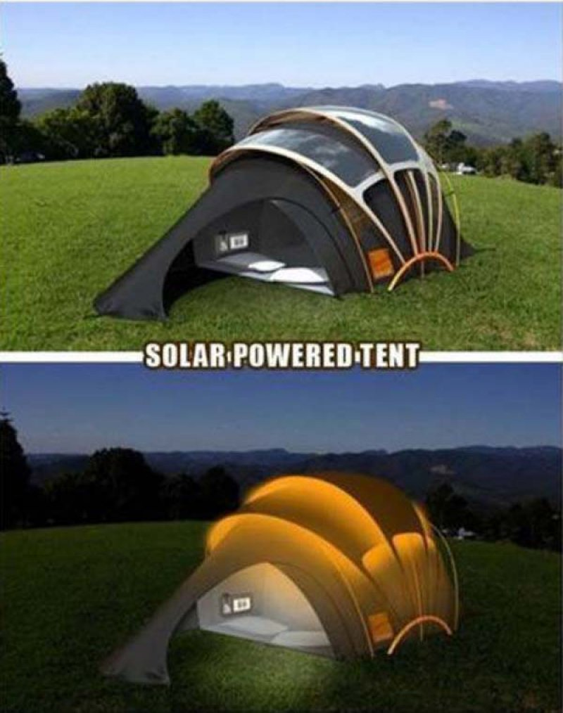 Solar-Powered Camping Tent-36 Strangest Gadgets That You Can Buy