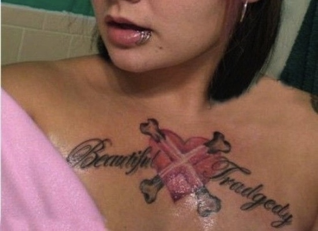 Beautiful-tragedy-15 Worst Tattoo Spelling Mistakes Ever