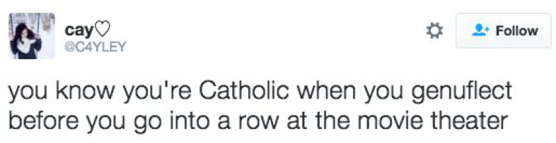 Absent-minded Genuflecting-15 Tweets Only Catholics Will Understand