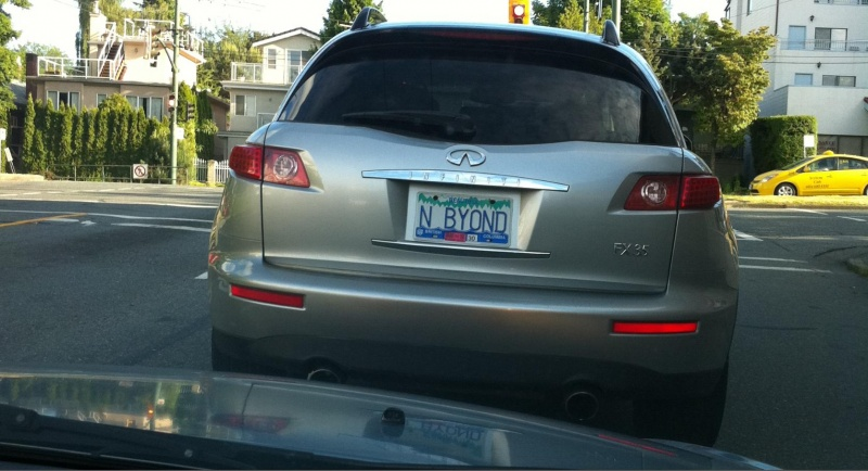 Infinity and Beyond-15 License Number Plates With Secret Meaning