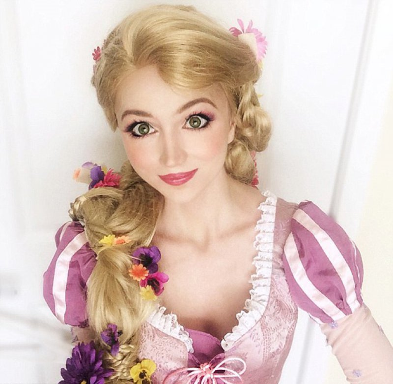 She is a Professional Entertainer-Girl Who Spent ,000 To Look Like Disney Princesses