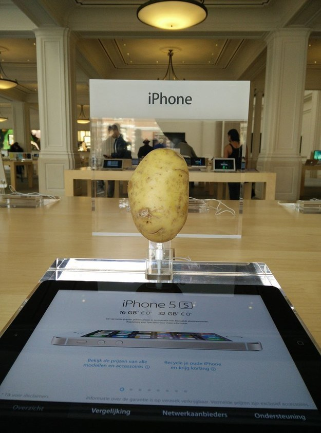A Wild Potato Appears-15 Hilarious Things Ever Happened In Apple Stores