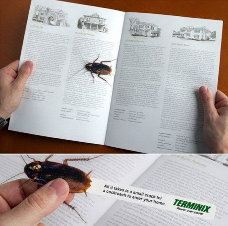Cockroach Bookmark for the Weird Stuff Lovers-15 Bookmarks You Must Have If You Are A Bookworm