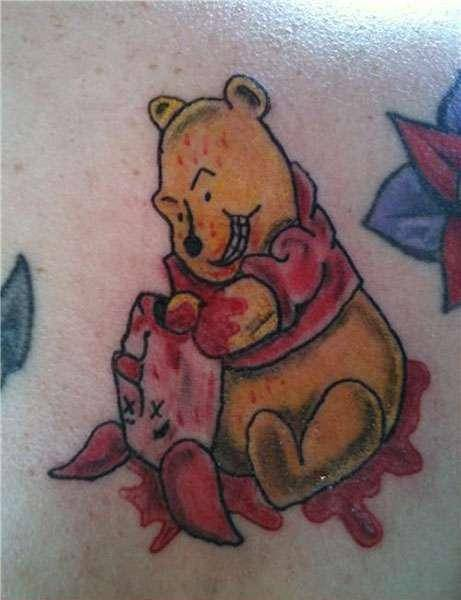 Winnie the Pooh-15 Most Inappropriate Disney Tattoos Found On The Internet