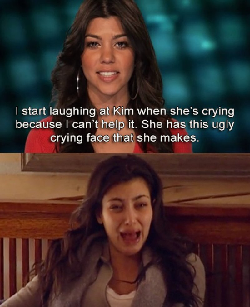 She Loves Seeing Kim Cry-15 Images That Show Kourtney Kardashian Is A Completely Hilarious Bitch