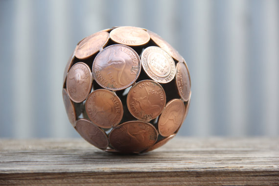 Ball of Coins-15 Beautiful Items That Are Carved Out Of Scrap