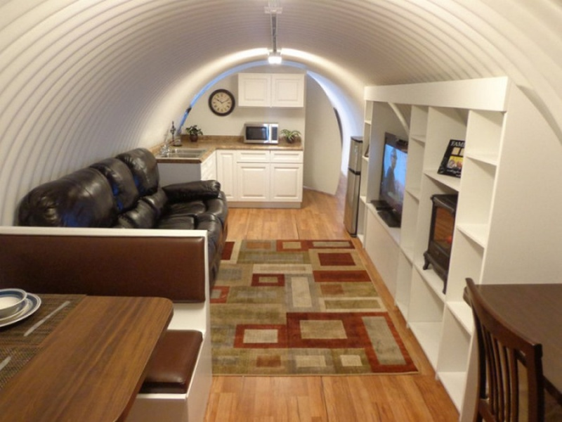 It Has a Nice Looking Living Room-Awesome House Built In An Underground Pothole